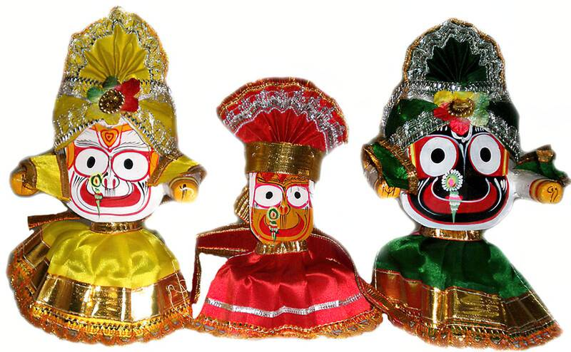 Clothes for Jagannatha, Baladeva and Subhadra Deities