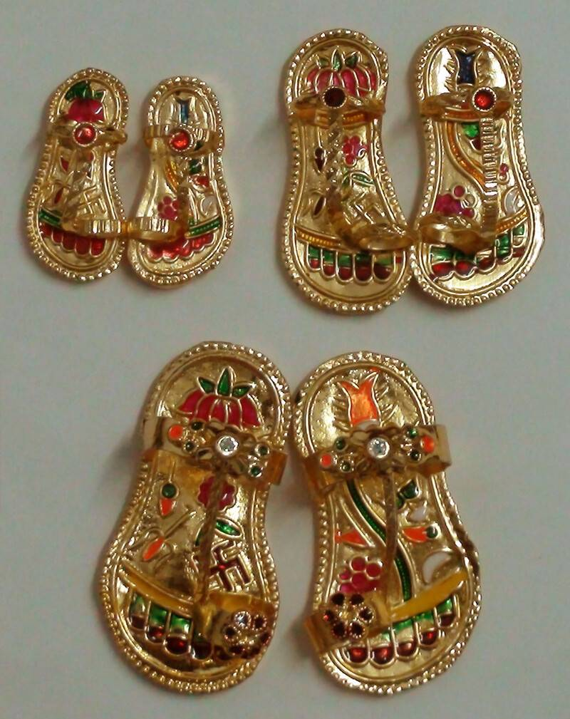 Pair of Golden Shoes (for Radharani)
