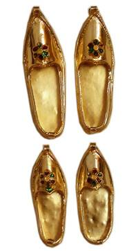 Pair of Golden Shoes (for Prabhupada)