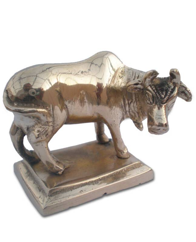 Krishna's Cow -- Solid Brass, Small 2.2