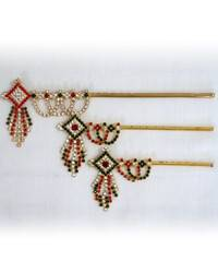 Krishna's Flute -- Diamond Pattern (Red, Green & White)