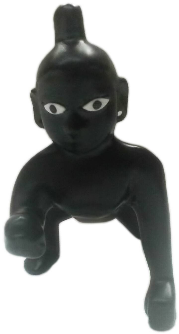 Laddu Gopal Brass Deity with Black Finish 4