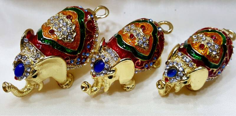 Golden Elephant Set of 3 -- 3