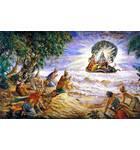 Demigods Pray to Lord Vishnu on the Shore of the Milk Ocean