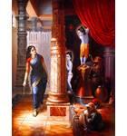 Krishna and Balaram Hide From Mother Yasoda