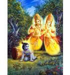 Demigods Pray to Baby Krishna After Trees Fall