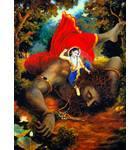 Balarama Kills the Pralambasura Demon
