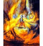 Krishna Swallows the Forrest Fire