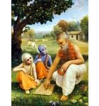 Krishna and Balaram at the School of Sandipani Muni