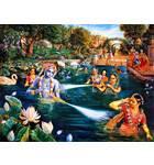 Krishna and Gopis Water Pastimes