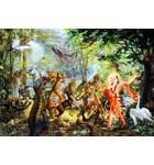 Lord Caitanya's Sankirtan With Jungle Animals