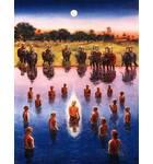 Lord Caitanya Mahaprabhu Bathes in the Ganges