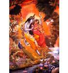 Radha and Krishna Sit on the Bank of the Yamuna River