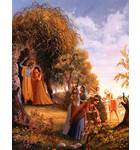 Lord Caitanya Helps the Gopis Collect Flowers to Make a Garland for Krishna