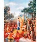 Lord Caitanya and Nityananda at Panihati Chipped Rice Festival