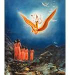 Lord Vishnu Visits His Devotees Meditating in the Water