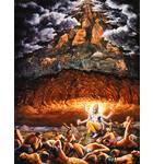 Lord Vishnu Lifts a Mountain