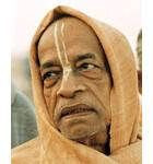 Srila Prabhupada on Morning Walk Closeup