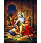 Krishna Being Dressed by Yasoda and Balarama