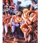 Lord Caitanya in Front of Ratha-yatra Cart