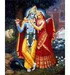 Radha and Krishna (Red Dress) Painting