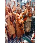 Srila Prabhupada dancing at Bhatktivedanta Manor, London Kirtan