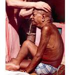 Srila Prabhupada Receiving Massage