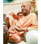 Srila Prabhupada in Vrindaban, Relaxed Pose