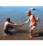 Srila Prabhupada Bathing in Ganges