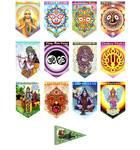 Art Flags -- Full Set -- 12 Dharma Flags plus Hanuman Free