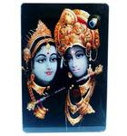 Acrylic Stand -- Radha Krishna with Flute  (large size)