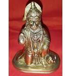 "Brass Sri Hanuman Deity  (5"")"