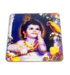 Krishna with parrot - Altar / Table stand