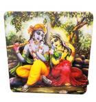Wooden 3D Radha Krishna Table Stand
