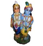 "Krishna and Balarama Polyresin Figure (6.5"" high)"
