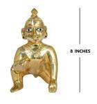 "Laddu Gopal Brass Deity 8"""