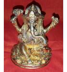 "Lord Ganesh Brass Deity (4"" high)"
