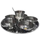 Thali Prasadam Plate Sets -- Stainless Steel