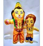 Lord Nrsimha and Prahlad Maharaja Dolls -- Childrens Stuffed Toy