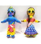 Radha-Krishna Dolls -- Childrens Stuffed Toy
