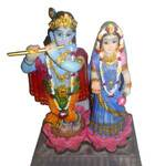 "Radha Krishna Polyresin Figure (6"" high)"