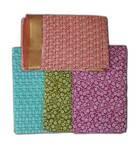 Saloni Sari -- Fine Jute-Cotton, Printed pattern on color background