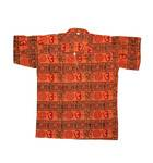 Kurta -- Om Print with Collar, Short Sleeves