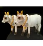 "Standing Cows White 3"" size (Set of 2)"