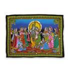 Wall Hanging -- Radha Krishna & Asta Sakhi