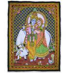 Wall Hanging -- Radha & Krishna with Cow