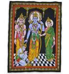 Wall Hanging -- Ramdarbar (Sita-Rama-Laksmana-Hanuman)