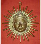 "Brass Surya Sun God Deity (8"")"