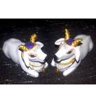 "Cute Krishna's Cows White 2.5"" size (Set of 2)"