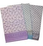 Sari, Cotton Printed -- Vrindavan Print Sari (Pastel colors on white background)